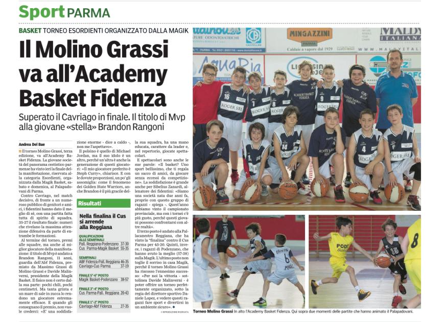 Academy Basket Fidenza vince il torneo MolinoGrassi